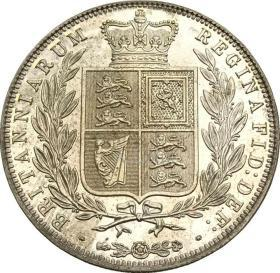 英国1/2皇冠1886维多利亚年轻头银元银圆
