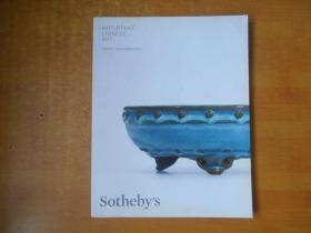 1Sotheby's 伦敦苏富比2015年 IMPORTANT CHINESE ART 中国艺术珍品