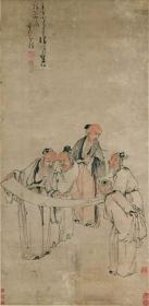 高清复制名家字画  清 黄慎 五老图60-122厘米