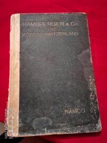 RAMSPERGER & Co LTD ZURICN SWITZERLAND (全书全部图片)  民国