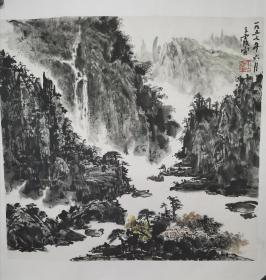 湖北已故著名画家三老之一王霞宙山水画2
