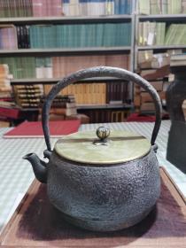 日本龙文堂造 铁壶