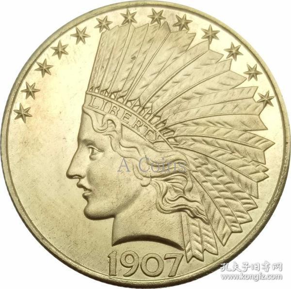 印度头鹰没有座右铭1907银元