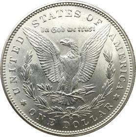 美利坚合众国摩根元1884 o 年银元