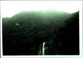 台湾纸片、照片、老照片·瀑布、高空缆车