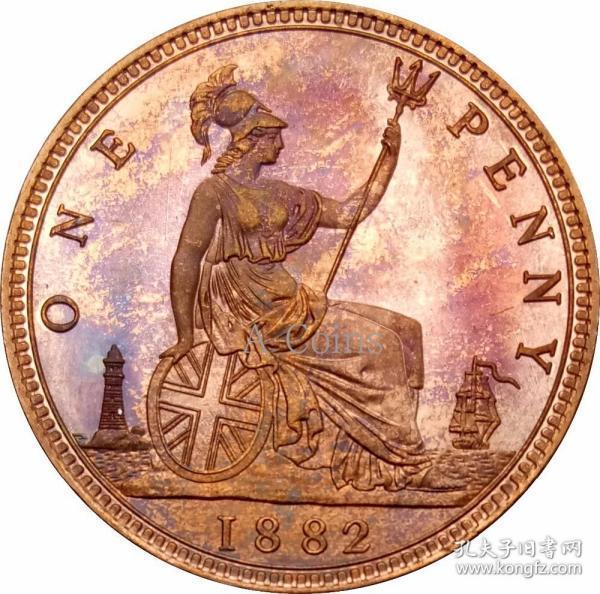 英国维多利亚1882银元银圆