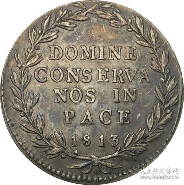 瑞士苏黎世 1813银元银圆
