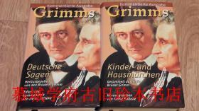【全品】布面精装/书衣/书套/圣经纸印刷/最新、最全注释本《格林童话》、《格林德国神话传奇故事》2册 BRÜDER GRIMM: KINDER- UND HAUSMÄRCHEN / DEUTSCHE SAGEN