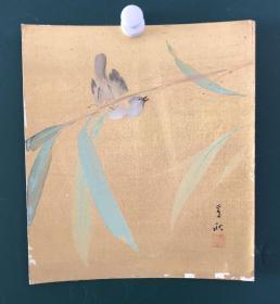 日本回流字画 745方型色纸 卡纸 小画片