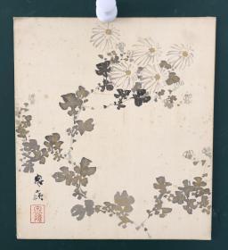 日本回流字画 750方型色纸 卡纸 小画片
