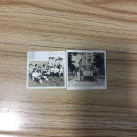 老照片2张:早期集体照