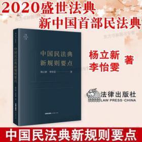 中国民法典新规则要点 杨立新李怡雯 2020中国民法典法学理论法学著作民法典规定要点研究