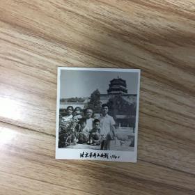 老照片:合影  北京万寿山留影 1961年