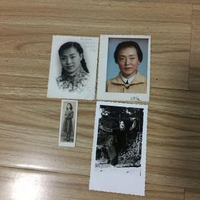 老照片4张:同一人不同时期照片4张,最早的1951年