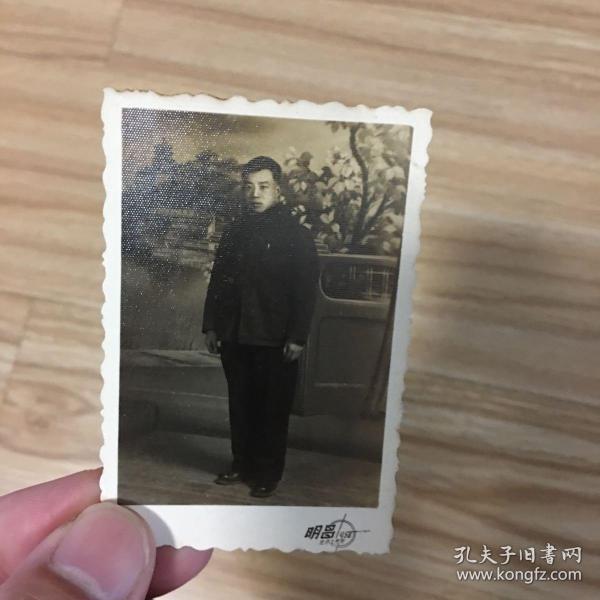 老照片:个人照 明昌照像 1957年