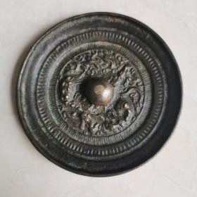 明代铜镜,古代悬挂镇宅用。已鉴定,直经7.1㎝厚0.7㎝重104g,永久保真