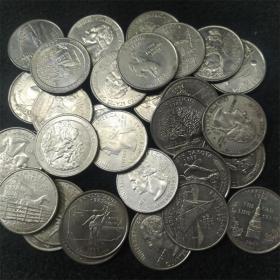 华盛顿总统像纪念币.美国各州政府发行硬币