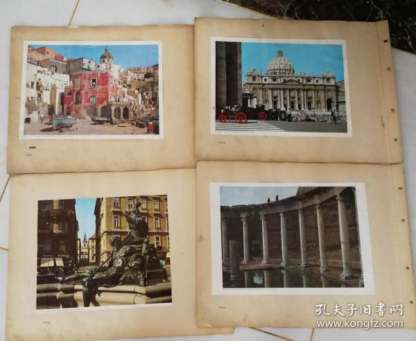 70年代山東省京劇團《奇襲白虎團》劇組資料 風景宣傳畫(43張)少兩張 尺寸52公分×39公分(13)