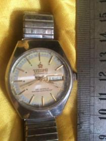 梅花牌手表自动表老腕表25钻TITQMI瑞士swiss 日历星期正常走时正常。实拍不退换喔