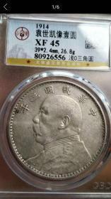 O版袁像大头浅O三角圆公博评级XF45非八年九年精发大清银币
