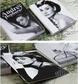 【盒装30张大全】《世界著名影星——赫本》明信片全新摄影