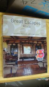 Great Escapes Africa:The bible of the travelling aesthete. 正文中有英语,德语,法语等。如图。厚铜版纸精印 12开彩色图文