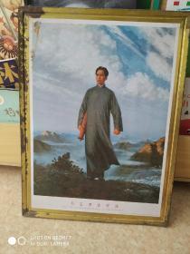 铁皮毛主席像    闽福建68年  42cm  20Cm