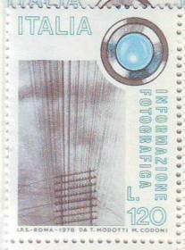 意大利 1978 照相与信息 电报线 镜头 摄影 1全 外国邮票