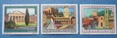意大利 1978 旅游风光 执政者宫 自由广场 神庙 3全 外国邮票