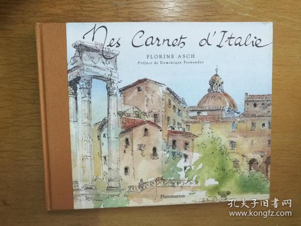 Mes Carnets D'Italie 我的意大利日记(2000年法语原版画册,横16开布面书脊硬精装,水粉速写,品好)