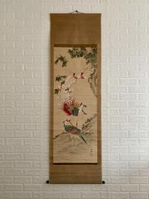 孤品 罕见文晁凤凰之图 谷文晁(1763~1841) 日本江户时代的著名画家。曾广泛学习狩野派、圆山派、南画(水墨画)及西洋画法,并将各画种的表现手法相互借鉴,从而形成自己的风格。其曾为《集古十种》图录做插图,还曾游历各地画出大量风景写生画。弟子中有田能村竹田、渡边华山、谷文一、谷文二。