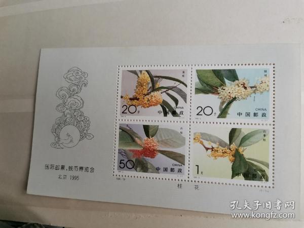 1996—6国际邮票:钱币博览会挂花小全张
