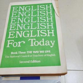 4929 english for today (全外文 实物如图)