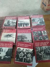 【英文原版】二战军事史 The Military History of World War II(第二次世界大战军事史,1.5.6.8.9.1014.17.18)9本合售 著名军事学家特雷弗N杜普伊巨著,精