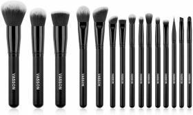 包邮 美国Vasson专业化妆刷 15支套装 散粉腮红 粉底刷 眼影刷 面部 全套 超柔软刷子 彩妆工具 全新