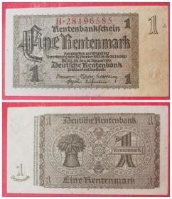 外国钱币:德国1马克纸币