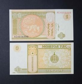 蒙古 1图格里克纸币 2008年  好号码888  外国钱币