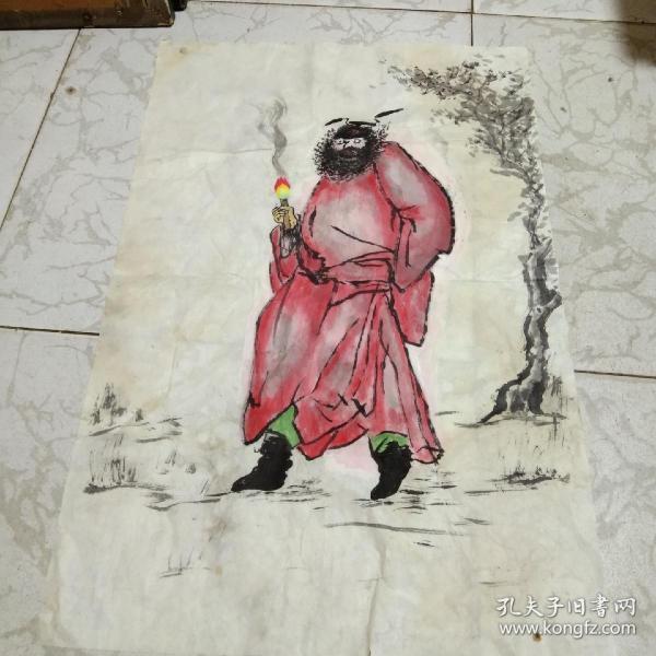 不知哪位画家手绘国画钟馗