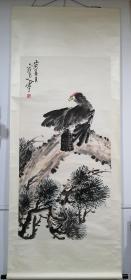 齐白石入室弟子,新乡老画家李霞生立轴,十年前装裱。