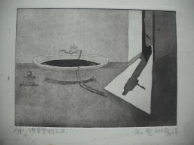 铜版画   《浴室系列之三》  尺寸: 26X19厘米