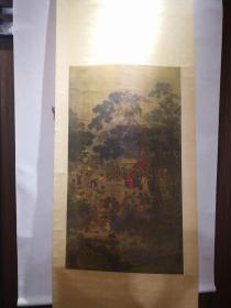90年代上海博物馆绢本复制:《宋画望贤迎驾图》