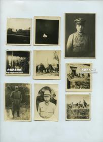 民国时期侵华日军在中国的军事行动一组9张,中国北方一带。