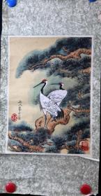 当代著名画家李友文---松鹤延年