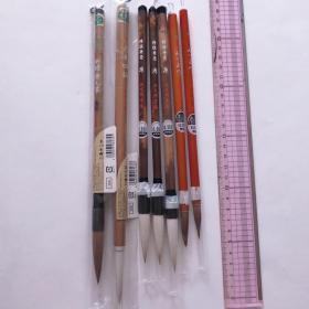 日本传统工艺あかしや特选みくまの精选毛笔7根羊毫兼毫毛笔N687