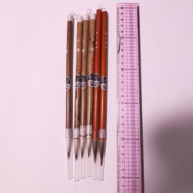 日本传统工艺みくまの文明堂精选毛笔中号羊毫兼毫5根 N693