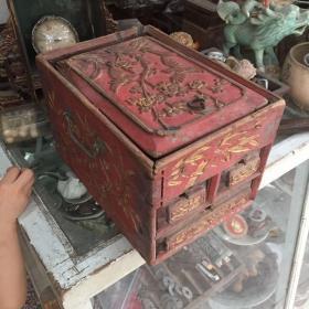 潮州金漆木雕柜子