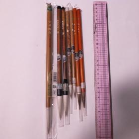 日本传统工艺あかしや特选文明堂等毛笔7根羊毫兼毫毛笔N688