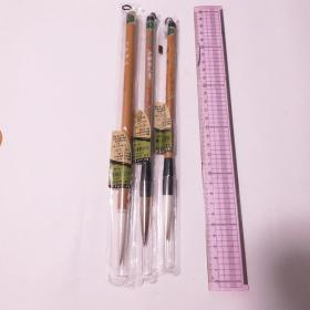 日本传统工艺あかしや特选4号5号3根羊毫兼毫毛笔 N690