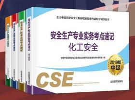 现货2019中级注册安全工程师考试  化工安全专业 考点速记 全4册 应急管理出版社