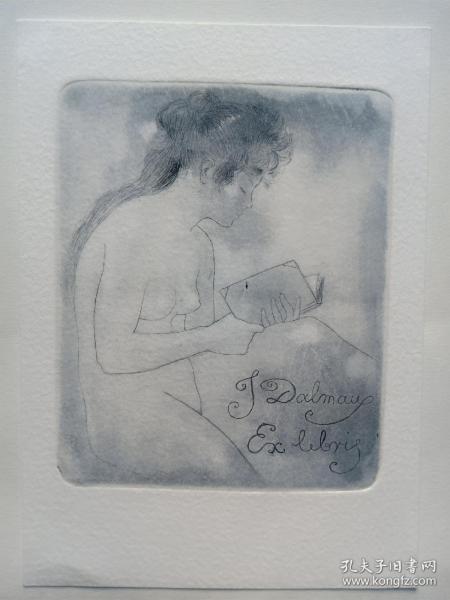 阿爾芒(Armand Rassenfosse)銅版蝕刻藏書票